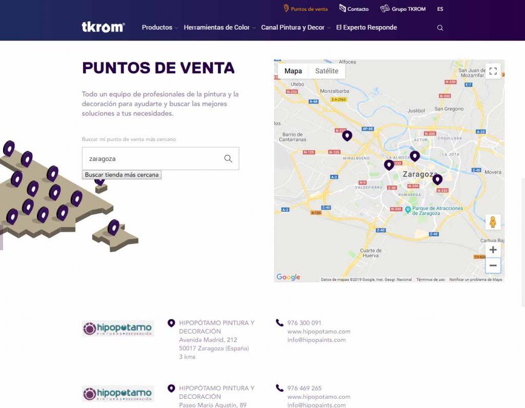 Distribuidor Tkrom Zaragoza