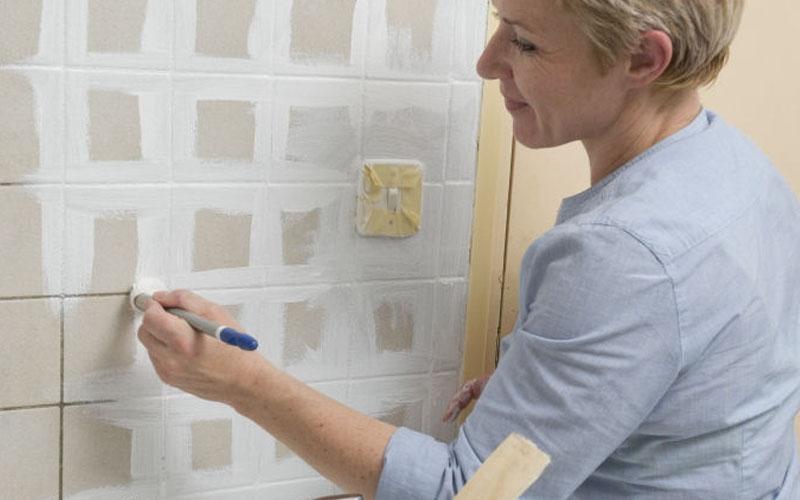 pintar azulejos pared